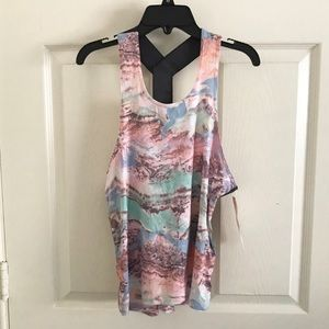 Champion C9 Athletic Racerback Tank Pink Abstract